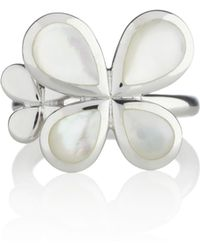 Manja - Silver Reva Ring Mother Of Pearl - Lyst
