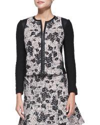 Rebecca Taylor Flocked Tweed Jacket - Lyst