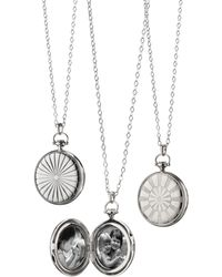 Monica Rich Kosann - Silver Dart Board Locket Necklace - Lyst