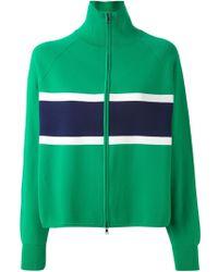 Jil Sander Navy Zipped Stripe Top - Lyst