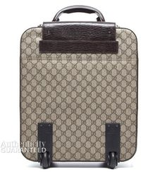 Gucci Canvas Webbed Vintage Rolling Luggage - Lyst