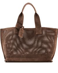 Pedro Garcia Perforated Tote - Nut - Lyst