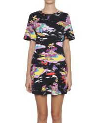 Love Moschino Jersey Cotton Printed Dress - Lyst