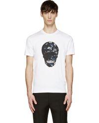 Markus Lupfer White Floral Skull T_Shirt - Lyst