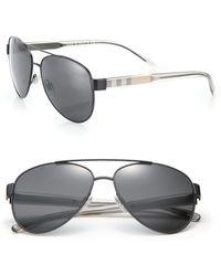 Burberry | Pilot Double-bridge Metal Sunglasses | Lyst