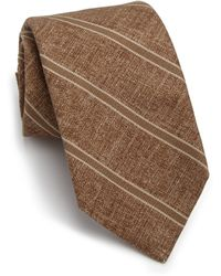 Isaia | Tonal Seasonal Stripe Silk Tie | Lyst