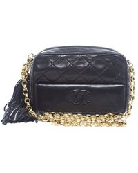 Chanel Preowned Quilted Cc Tassel Vintage Camera Bag - Lyst