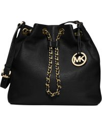 Michael Kors Michael Frankie Large Drawstring Shoulder Bag - Lyst