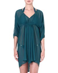 Heidi Klein Puerto Rico Gathered Batwing Dress Grnpuerto Rico - Lyst