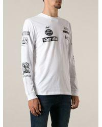 Diesel White Printed Sweatshirt - Lyst