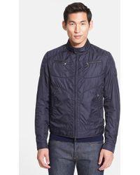 Moncler 'Donatien' Nylon Moto Jacket - Lyst
