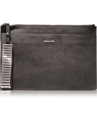 McQ by Alexander McQueen Metal Bar Tech Clutch - Lyst