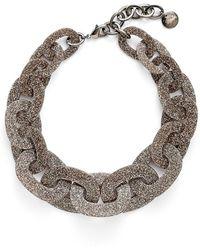 Pono - Glitter Paperchain Choker Necklace - Bronze - Lyst