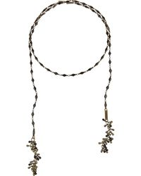 Isabel Marant Brass And Resin Wrap Necklace - Lyst