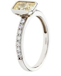 Carat* - Fancy Yellow Solitaire Ring - Lyst