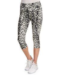 Varley   Pico Crop Leopard-print Sport Leggings   Lyst