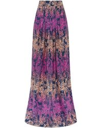 Matthew Williamson Wing Lace Silk Maxi Skirt - Lyst