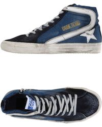 Golden Goose Deluxe Brand High-Tops & Trainers blue - Lyst