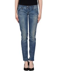 Roy Rogers Blue Denim Pants - Lyst