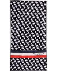 Vicomte A. Allover Print Navy Towel - Lyst