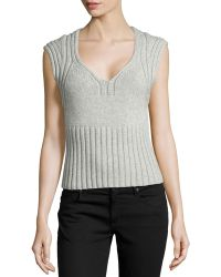 Michael Kors Sleeveless Cashmere and Wool-Blend Sweater - Lyst