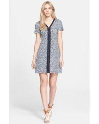 Tory Burch Print Ponte Knit A-Line Dress - Lyst