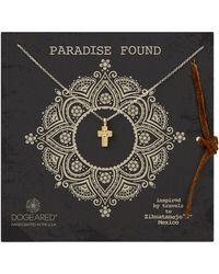 Dogeared Paradise Found Flower Cross Pendant Necklace - Lyst
