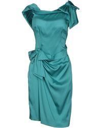 DSquared2 Green Short Dress - Lyst