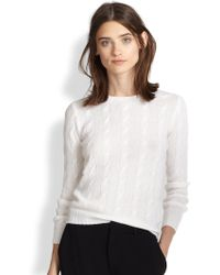 Ralph Lauren Black Label Cable-Knit Cashmere Sweater - Lyst