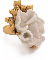Oscar de la Renta Coral Ring - Ivory - Lyst