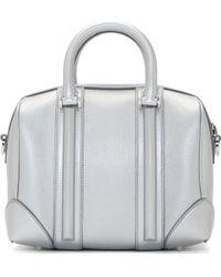 Givenchy Silver Leather Lucrezia Mini Duffle Bag - Lyst