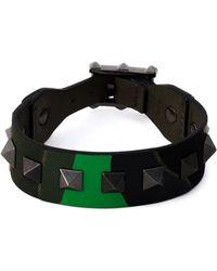 Valentino Green 'Rockstud' Bracelet - Lyst