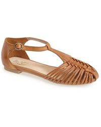 Seychelles 'Into Thin Air' Leather Huarache Flat Sandal - Lyst