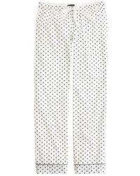 J.Crew Pajama Pant In Polka-Dot Flannel - Lyst