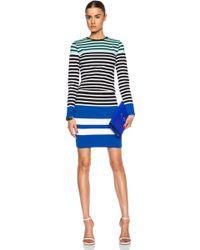 T By Alexander Wang Engineer Stripe Pencil Cotton-Blend Skirt - Lyst