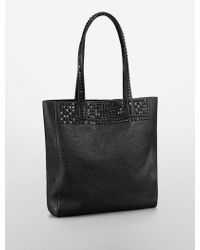 Calvin Klein Jeans Andie Studded Tote Bag - Lyst