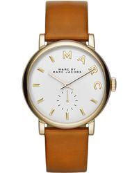Marc By Marc Jacobs Ladies Baker Goldtone Stainless Steel And Leather Watch - Lyst