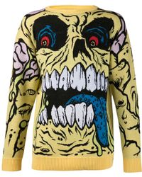 Jeremy Scott Madball Knit Sweater - Lyst