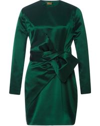 Katie Ermilio | Bow-detail Satin Dress | Lyst