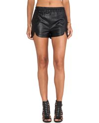 Pink Stitch Black Galileo Shorts - Lyst