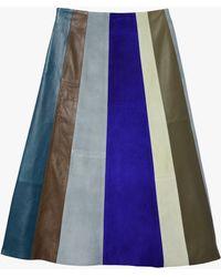 Derek Lam | Patchwork A-line Skirt | Lyst