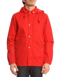 La Panoplie Hooded Red Parka - Lyst