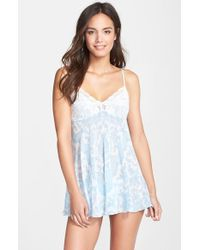 In Bloom By Jonquil Lace & Porcelain Print Bridal Babydoll & Thong - Lyst