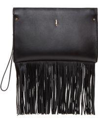 Maiyet - Black Leather Fringe Rhea Clutch - Lyst