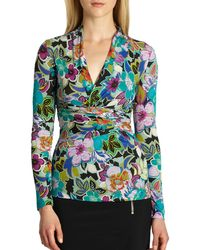 Etro Ruched Jersey Top - Lyst