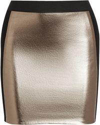 Mason by Michelle Mason Metallic Leather-paneled Stretch-jersey Skirt - Lyst