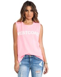Textile Elizabeth And James Westcoast Dean Tee - Lyst