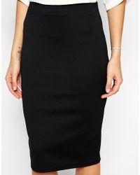 Asos Pencil Skirt In Scuba - Lyst