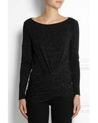 Donna Karan New York Draped Stretch-Jersey Top - Lyst