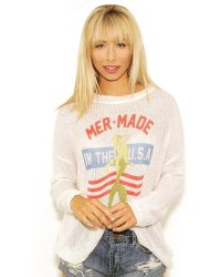 The Laundry Room - Mermade In The Usa Beach Bummies Jumper In White - Lyst